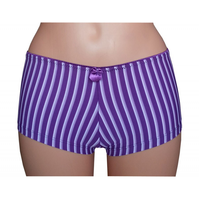 Panty, lila gestreift
