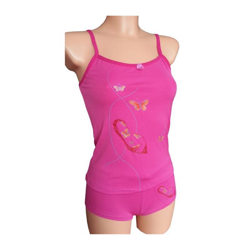 Nachthemdchen Set, Schmetterling - Pink (S)