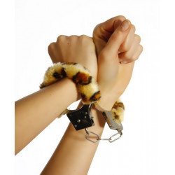 Plüsch-Handschellen - Leopard