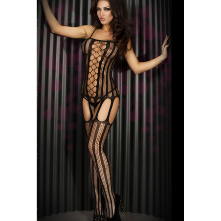 Fishnet and Stripes Bodystocking