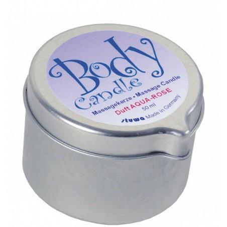 Body Candle Massagekerze Aqua-Rose