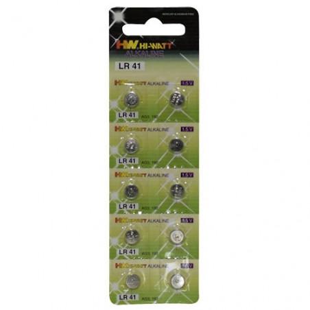 Knopfzellenbatterien 10er Blister LR41 1.5 Volt