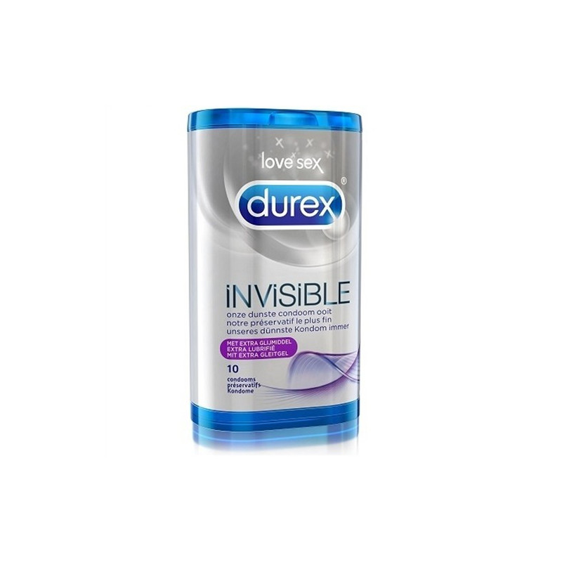 Durex Invisible Extra Lubricated (10 Stück)