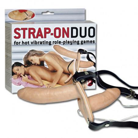 Strap-on Duo mit Vibratoren