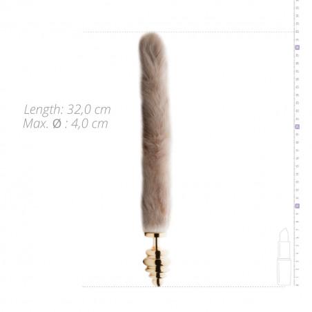Analplug gerippt mit Fuchsschwanz