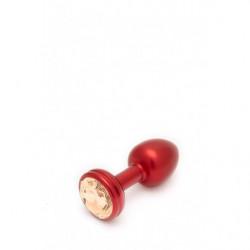 Crystal Anal Plug - Small - Gold/Rot