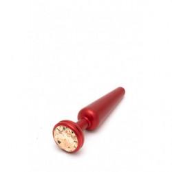 Crystal Anal Plug - Medium - Rot