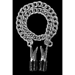 Nippelklemmen mit Metallkette - 40cm Länge