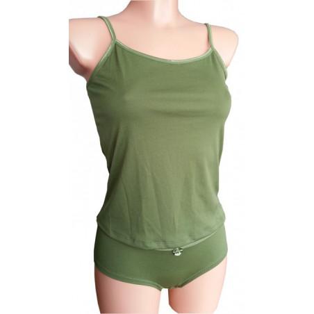 Nachthemdchen Set mit Slip - Grün (S)