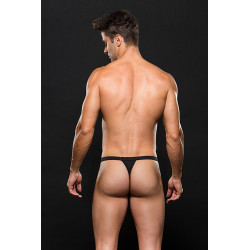 Elastic Mesh Sport Thong, Schwarz - Envy Meanswear