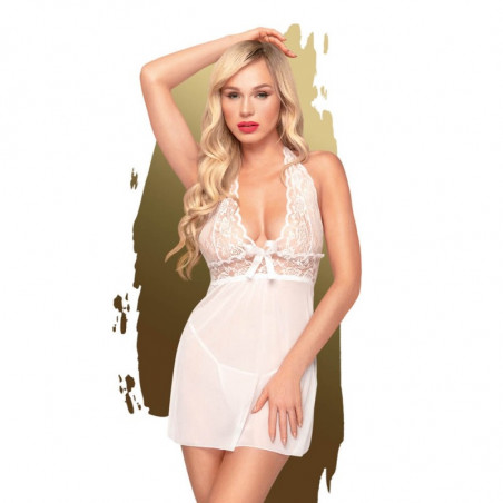 Sweet & spicy (Weiss) - Bodystocking / Negligés - Penthouse Lingerie