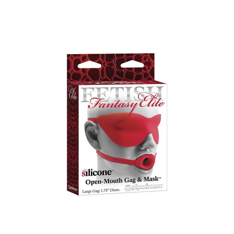 Pipedream FF Elite Open Mouth Gag - Red Large