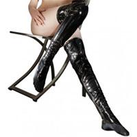 Lack Strümpfe - Strapsen | BDSM Kleidung für Frauen