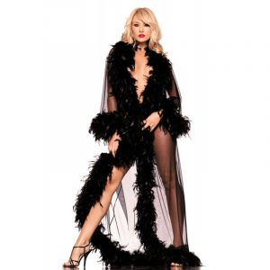 Robe mit Federn - Be Wicked Dessous